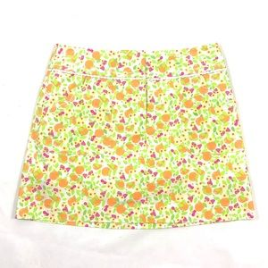 Lilly Pulitzer oranges pattern skorts shorts 0